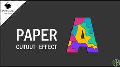 Paper Cutout | Inkscape Text Effect Inkscape Tutorials, Text Effects, Paper