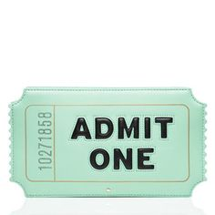 Kate Spade Novelty Bags That Are Too Cute to Miss Kate Spade Admit One Clutch BagKate Spade Admit One Clutch Bag Kate Spade Clutch, Kate Spade Handbags, Handbags Michael Kors, Purses And Handbags, Luxury Handbags, Cheap Purses, Cute Purses, Novelty Bags, Green Clutches