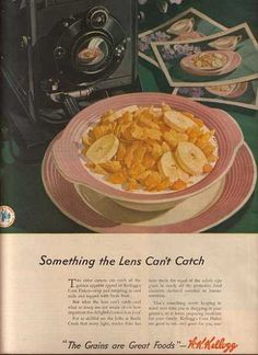 Vintage Food Advertisements of the (Page Retro Recipes, Vintage Recipes, Great Recipes, Breakfast Cereal, Breakfast Time, Breakfast Recipes, Vintage Advertisements, Vintage Ads, Vintage Food