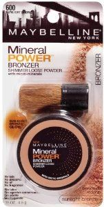 Pack) Maybelline New York Mineral Power Bronzer Shimmer Loose Powder, Sunlight Bronze Ounce Best Highlighter Makeup, Makeup Store, Waterproof Makeup, Makeup For Beginners, Loose Powder, Candle Making, Makeup Yourself, Maybelline, Beauty Makeup