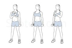 Standing cross chest curl exercise guide with instructions, demonstration, calories burned and muscles worked. Learn proper form, discover all health benefits and choose a workout. http://www.spotebi.com/exercise-guide/standing-cross-chest-curl/