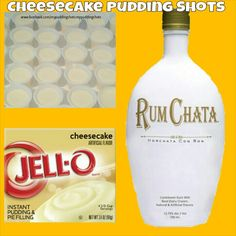 Cheesecake Pudding Shots. See full recipe on facebook.com/mypuddingshots.mypuddingshots