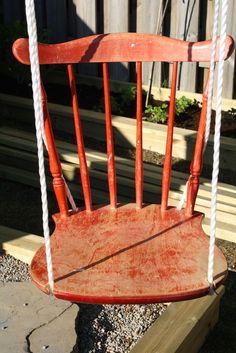 Fun backyard swing