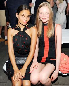 Models Shanina Shaik and Holly Rose in Jason Wu at Australian Fashion Foundation's 5th Annual Summer Party