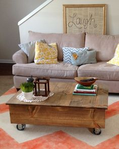 Handcrafted Box Cart Coffee Table & Photo!