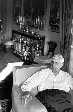 Henri Cartier-Bresson - Latium. 1968. Giorgio de Chirico.
