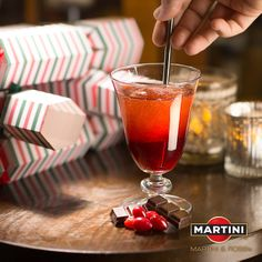 Combine MARTINI® Prosecco with cranberry juice for an alluring red cocktail.