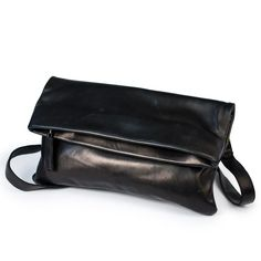 4ad80a0fe This black sheepskin leather convertible crossbody bag is a classic women s  leather purse that can be worn in three ways - as a mini crossbody bag