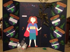 Judy Moody Saves the World tri-fold book report project.
