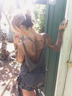 back tattoos for women (107)