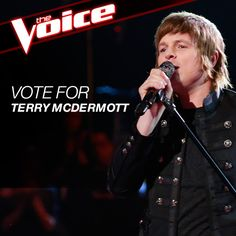 Vote for Terry McDermott! #TheVoice  Facebook: https://apps.facebook.com/nbc-the-voice/   Phone: 855 VOICE 04 / 8558642304