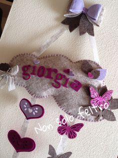 Fiocco nascita in feltro per Giorgia