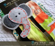 Elephant pacifier clip for baby