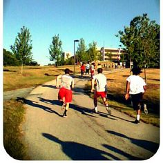 Sidewalk Hill Sprints to start the day off Right w/IntensiveShellCampers! #UMDWrestlingCamps @Instagram