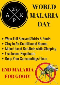 Every minute a child dies due to mosquito bite. Be aware, take precautions and stomp out malaria!