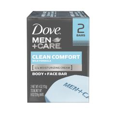 Dove Men+Care Clean Comfort Body & Face Bar, with ¼ moisturizing cream, thoroughly cleanses & helps maintain hydration levels for skin that feels healthy Best Soap For Men, Men Spa, Dove Men Care, Body Bars, In Case Of Emergency, Cleanse, Face