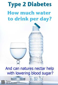 How much water to drink per day for diabetes and how it helps blood sugar regulation.