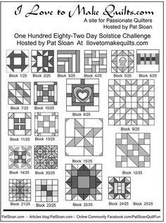 1 Pat Sloan 1 to 24 Solstice Block collage