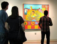"""Four Decades of Chicana Art and Culture in Tejas and Beyond,"" featured paintings, drawings and prints by Santa Barraza."
