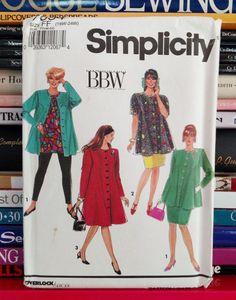 1991-Simplicity BBW Pattern  7634-Women's by PaperWardrobesEtc