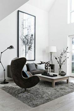 wohnzimmer gestalten wohnideen wohnzimmer wohnzimmer einrichten wohnzimmer design sessel schwarz Einrichtungsideen fürs Wohnzimmer