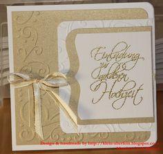 f r die goldene hochzeit einladungskarte hochzeit selber basteln karten basteln. Black Bedroom Furniture Sets. Home Design Ideas