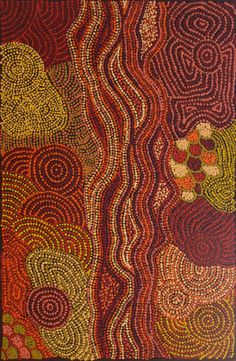 Here is another fine piece of Authentic Australian Aboriginal Art  by Nellie Marks Nakamarra / Women's Ceremony (9A) is the title of the work.  Click on the artwork to view this piece and more than 1000 other artworks from more than 100 of Australia's leading Indigenous artists.  Thank you