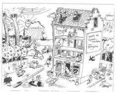 """Premium Giclee Print: A couple are coming out of Times Square-area """"Broadway tattoos"""" parlor wit… - New Yorker Cartoon by Brian Savage : Learn Dutch, Homeschool, Curriculum, Spelling Practice, Nova, New Yorker Cartoons, Hidden Pictures, Classroom Language, Teacher Organization"""