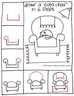 Chair drawing easy perspective tags apprendre dessiner aprender dibujar classroom ideas doodle easy quick drawings kawaii drawing learn to doodle Kawaii Drawings, Doodle Drawings, Doodle Art, Easy Drawings, Hipster Drawings, Pencil Drawings, Drawing Lessons, Drawing Techniques, Art Lessons