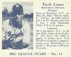 1950 Big League Stars (V362) #14 Turk Lown Front