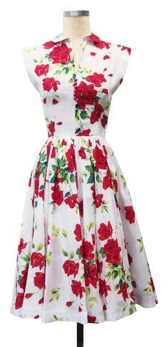 trashy diva hopscotch dress red roses