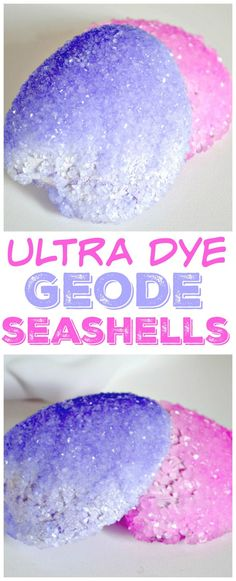 Learn how to turn your vacation seashells into crystallized geodes with this Ultra Dye Geode Seashell tutorial!