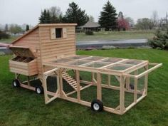 nice chicken tractor and coop - pics from Craigs list