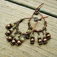 Labradorite and Antiqued Copper Wire Wrapped by BearRunOriginals