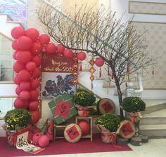 Chinese New Year, 2017 Chinese New Year Decorations, New Years Decorations, New Year Holidays, Holidays And Events, Chinese Theme Parties, New Year Backdrop, Asian Party, Chinese Crafts, Holiday Crafts