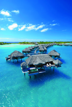 FRENCH POLYNESIA  Many couples do a Moorea-Bora Bora combo, since it's an easy jet from one isle to the other. On Moorea, the Hilton's over the water bungalows (OWBs) come with marble tubs; the current here is peaceful, so swim right off your deck.