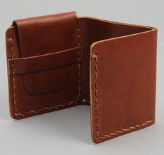 Billykirk Tri-Fold Wallet, Tan Leather
