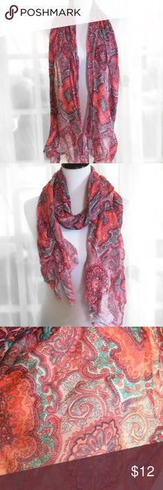 Old Navy Pink Multicolored Scarf Fabulously soft and brightly colored, this scarf is perfect way to kick up a black dress or go causal with a jean jacket! 100% Cotton Machine Washable Gently Worn/Like New Old Navy Accessories Scarves & Wraps