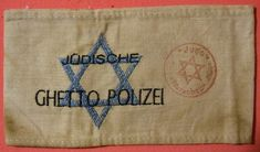 An item of historical value. Jews had to were armbands to point out that they were Jewish so they could be moved into a ghetto, to later go to camps were they would die or be worked. The resistance helped people hide or did not tell that they were hiding.