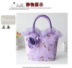 4 colors yellow purple green Khaki Top-Handle Bags Appliques Lace Flowers Ruched Casual Women Versatile handbags