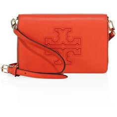Tory Burch Harper Leather Wallet Crossbody ($207) ❤ liked on Polyvore featuring bags, wallets, tory burch wallet, leather zip around wallet, genuine leather wallet, leather crossbody wallet and leather zip wallet