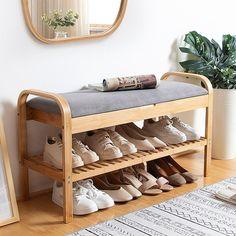 Shoe Rack Bench, Diy Shoe Rack, Shoe Racks, Small Shoe Rack, Shoe Storage Bench Diy, Shoe Rack Closet, Bamboo Shoe Rack, Hanging Storage, Storage Rack