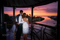 Wedding couple in love at sunset time by Konstantin Tronin on 500px