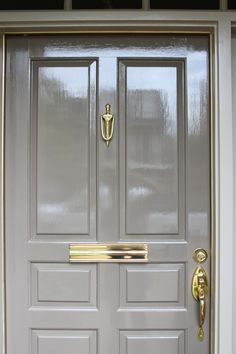 Love this shade by Fine Paints of Europe! Front Door Paint Colors, Painted Front Doors, Exterior Paint Colors, Front Door Decor, Exterior Design, Fine Paints Of Europe, High Gloss Paint, Painting Contractors, Entrance Doors