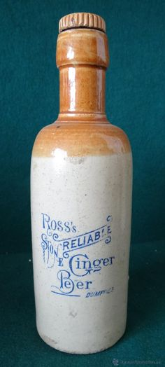 ROSS,S RELIABLE GINGER BEER.STONE. DUMFRIES. CERVEZA INGLESA. 1900-1910