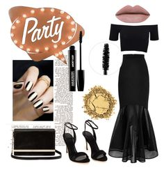 """""""Black&Gold party"""" by renicherie on Polyvore featuring Dot & Bo, Polo Ralph Lauren, American Apparel, Diane Von Furstenberg, MAKE UP FOR EVER, women's clothing, women, female, woman and misses"""