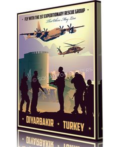 Share Squadron Posters for a 10% off coupon! Diyarbakir Air Base, 1st Expeditionary Rescue Group #http://www.pinterest.com/squadronposters/