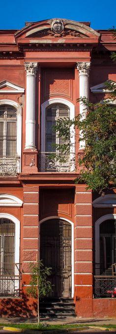 Supermercado del Neumático - Av. España - Barrio República Chile, Facade, Garage Doors, Urban, Mansions, House Styles, Outdoor Decor, Photography, Home Decor