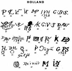 Pottery & Porcelain Marks - Holland - Pg. 3 of 4