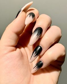 """Tsui auf Instagram: """"𝕓𝕒𝕔𝕜 𝕥𝕠 𝕞𝕪𝕤𝕖𝕝𝕗 . Inspired by @rotten_hollow & @avoideveryone Done by Laura from @byneos . #claws #instanails #black #blacknails…"""" Toe Nail Art, Toe Nails, Nail Bed, Manicure At Home, Cute Costumes, Rhinestone Nails, Black Nails, Mani Pedi, Neutral Colors"""